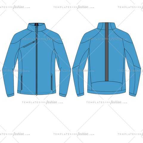 RUNNING PERFORMANCE JACKET FASHION FLAT VECTOR FILE
