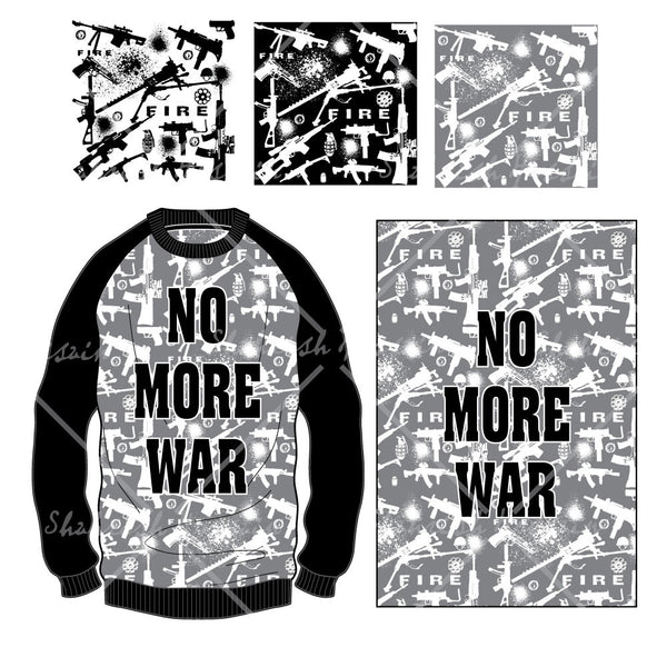 {Illustratror Stuff} Shahrish Hossain Crewneck Sweatshirt with Gun Print