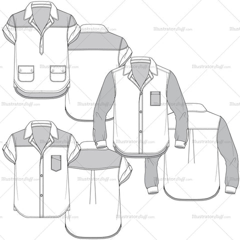 Men's Fashion Sketch Templates – Illustrator Stuff