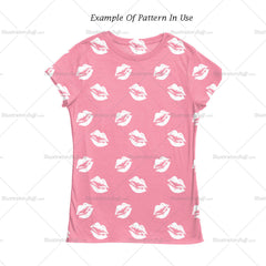 Lips Graphic Print And Repeating Pattern