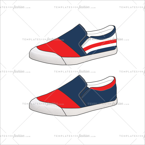 Unisex Skateboard Shoe fashion flat templates