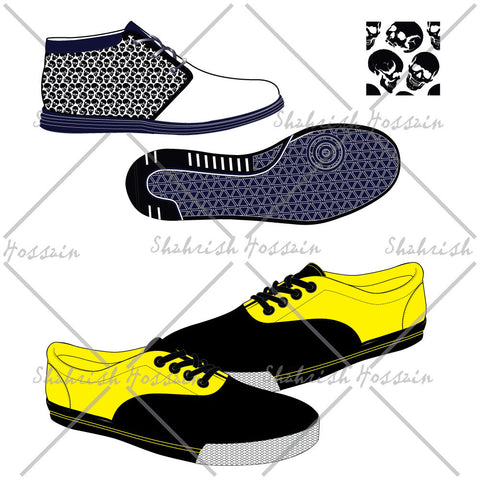 Sneaker Illustrations Fashion Flat Template
