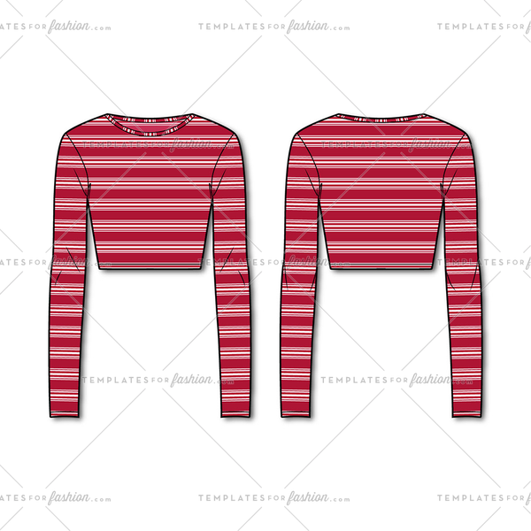 Women's Striped Crop Top