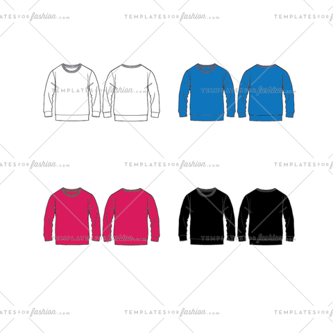 Sweater Fashion Flat Template
