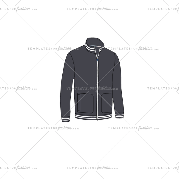 Track Jacket Fashion FLAT VECTOR TEMPLATE