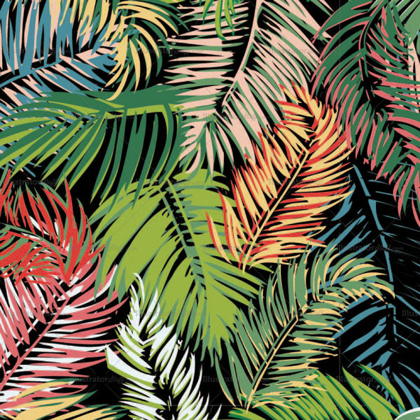 Tropical Oasis Seamless Repeating Pattern