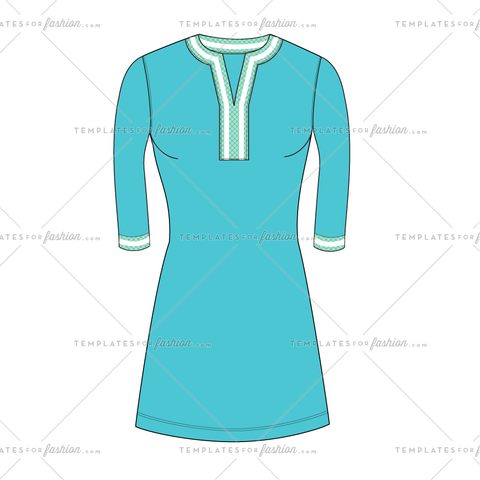 TUNIC DRESS FASHION FLAT VECTOR FILE