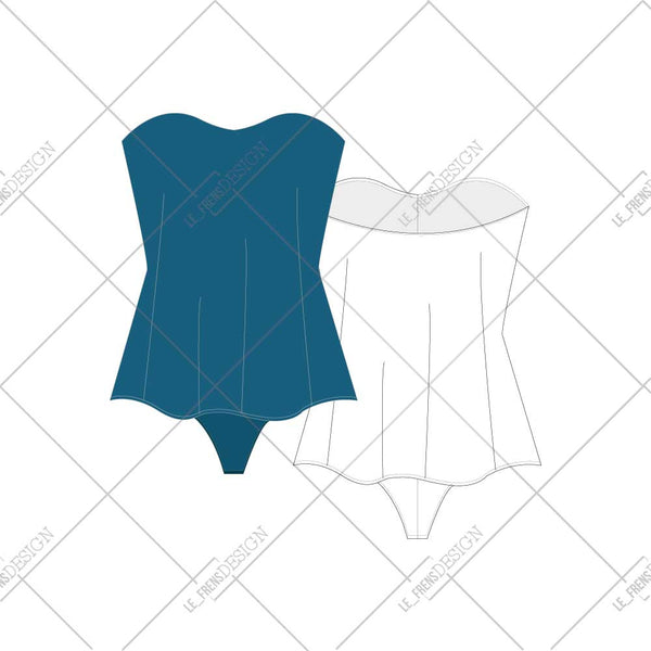 {Illustrator Stuff} Illustrator Body Suit Fashion Flat Template