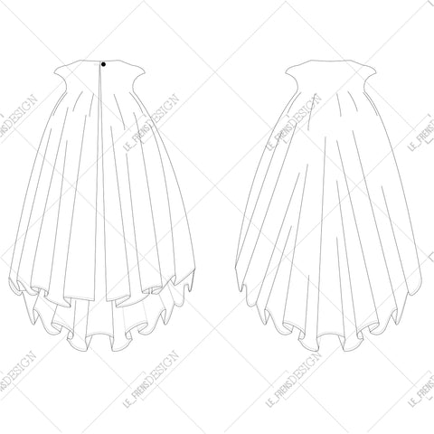 {Illustrator Stuff} Women's Vector Cape Fashion Sketch