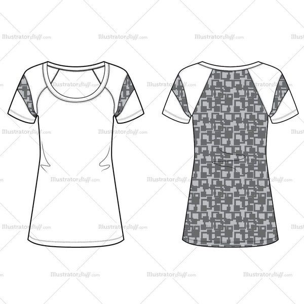 Women's Knit Top Fashion Flat Template