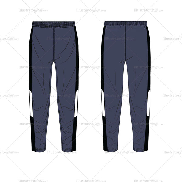 {Illustrator Stuff} Unisex Track Pant Fashion Flat Template