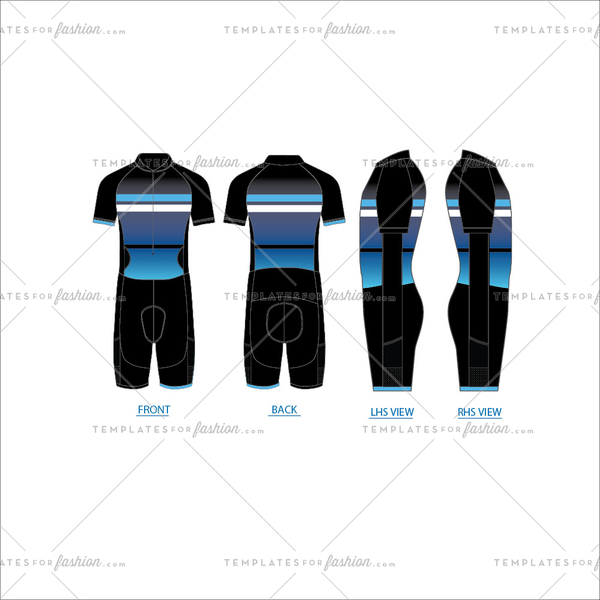 Tri Suit Fashion Flat Template