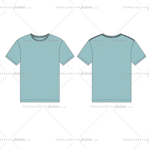Ultimate Crewneck T-shirt Fashion Flat Vector File
