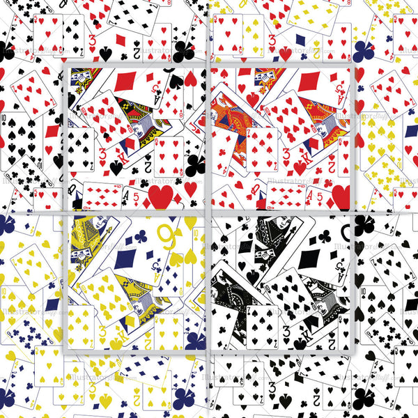 Playing Card Repeating Pattern