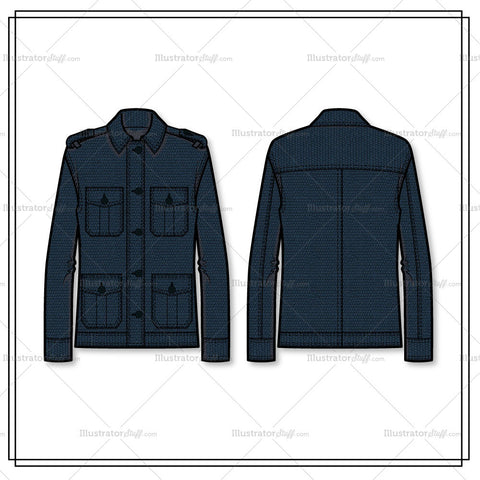 Utililty Jacket Flat Template