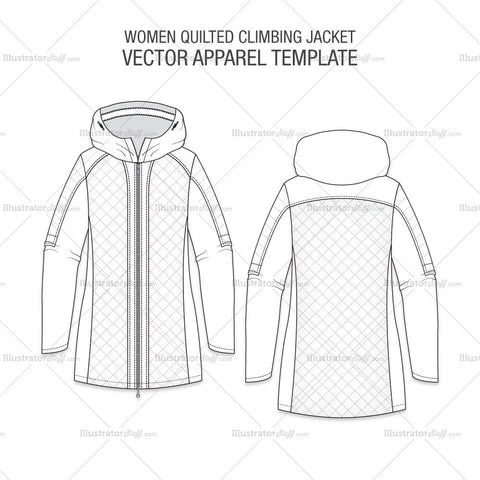 Women Quilted Climbing Jacket