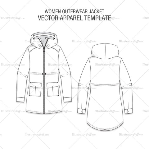 Women Outerwear Jacket Template