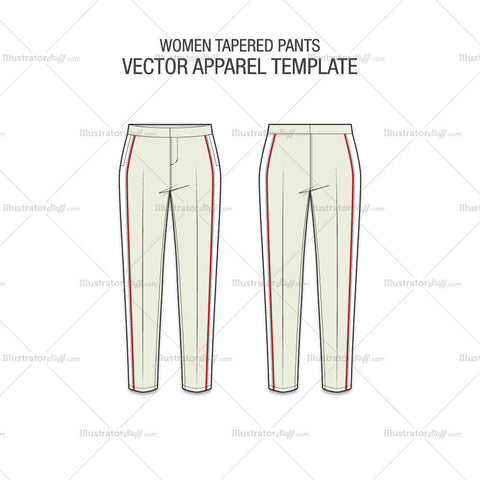 Women Tapered Pants Template – Templates for Fashion