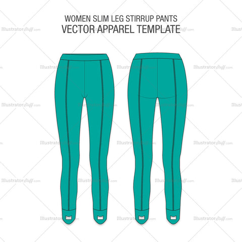 Women Slim Leg Stirrup Pants