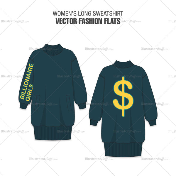 Women Long Sweatshirt