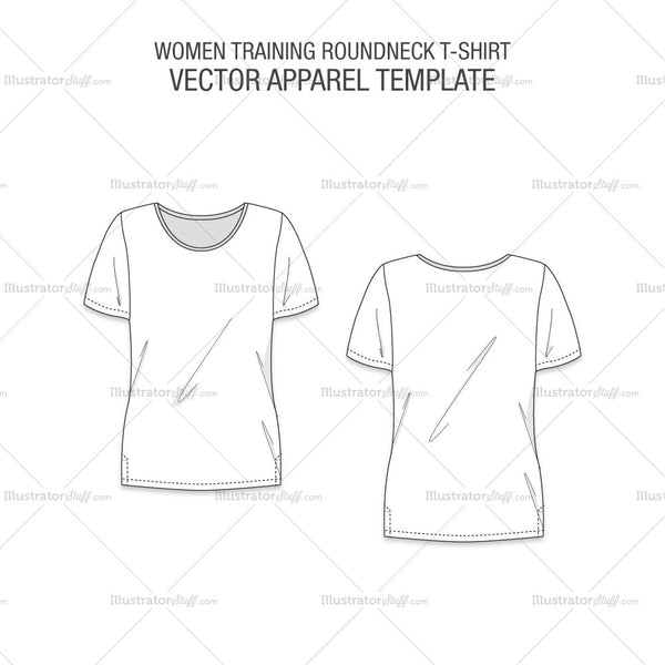 Women Training Roundneck T-shirt