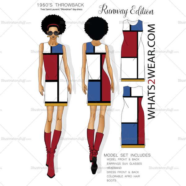 Female Fashion Runway Croquis Template Set