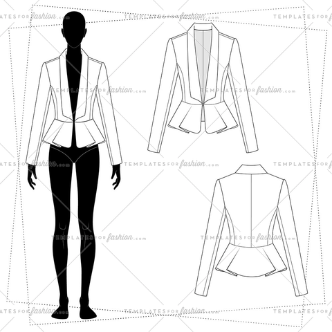 Women\'s Fashion Sketch Templates – Page 25 – Templates for Fashion