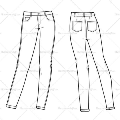 Women's Mid-rise 5 Pocket Jean