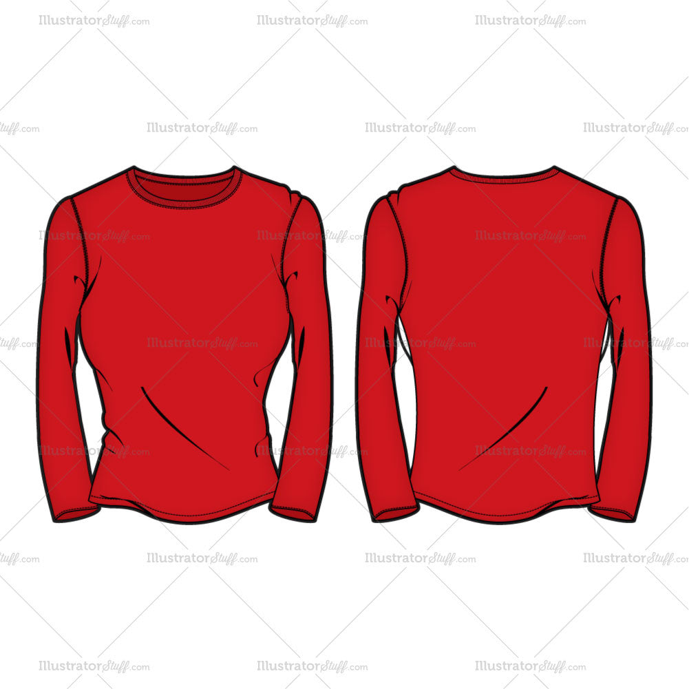 e6fe575613bb7 Long Sleeve T Shirts Template