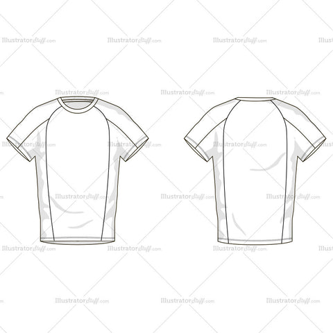 Men's T-Shirt Fashion Flat Template