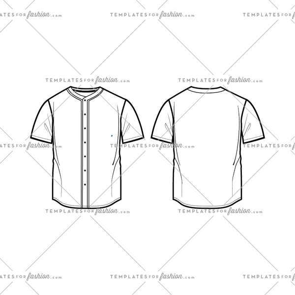 Baseball Jersey fashion Flat Templates