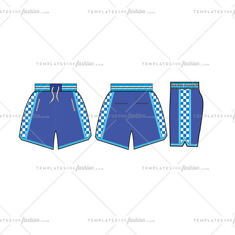Basketball Shorts Fashion Flat Templates