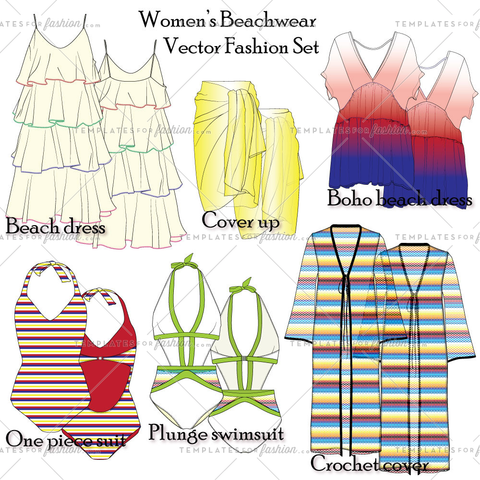 Women's Beachwear Fashion Set
