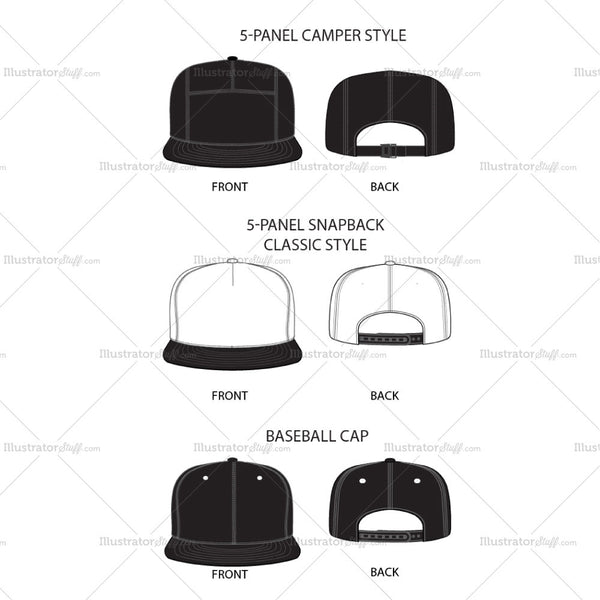 Men's Cap Fashion Flat Template