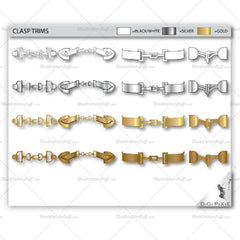 Fashion Clasp & Closure Trim Library