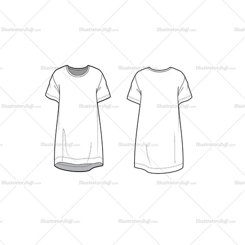 Dress Fashion Flat Template