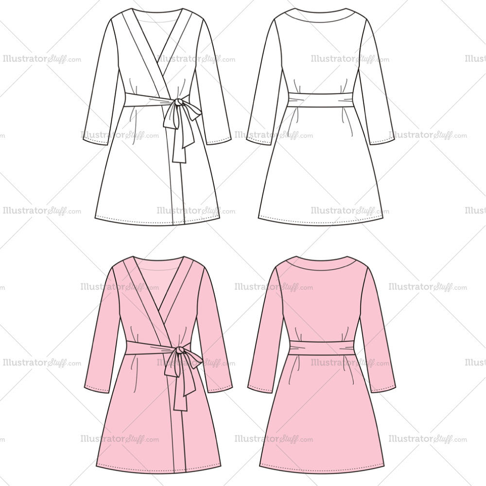 women s dressing gown fashion flat template templates for fashion