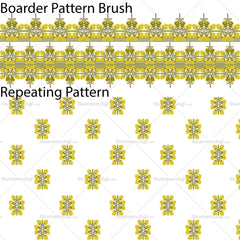 Elephant Inspired Repeating Pattern & Pattern Brush