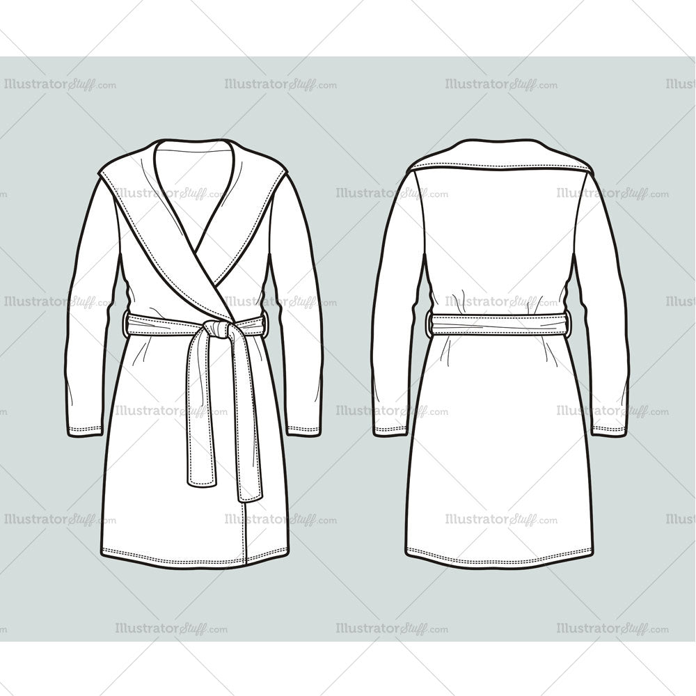 women s bath robe fashion flat template templates for fashion