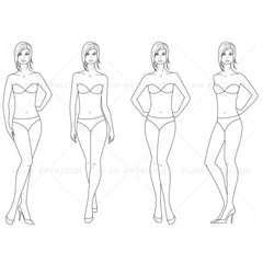 Female Fashion Croquis Template