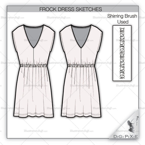 Frock Dress Sketch Template