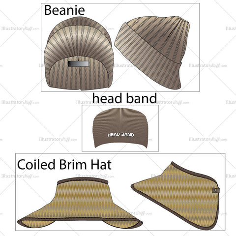 Hat Fashion Flat Templates