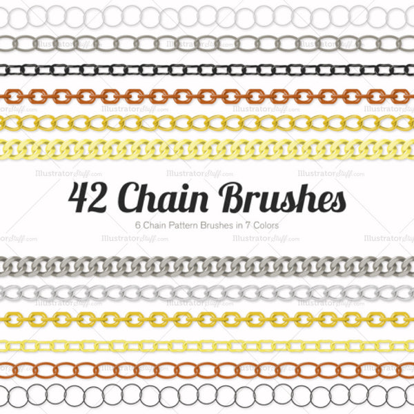 Chain Pattern Brush Library