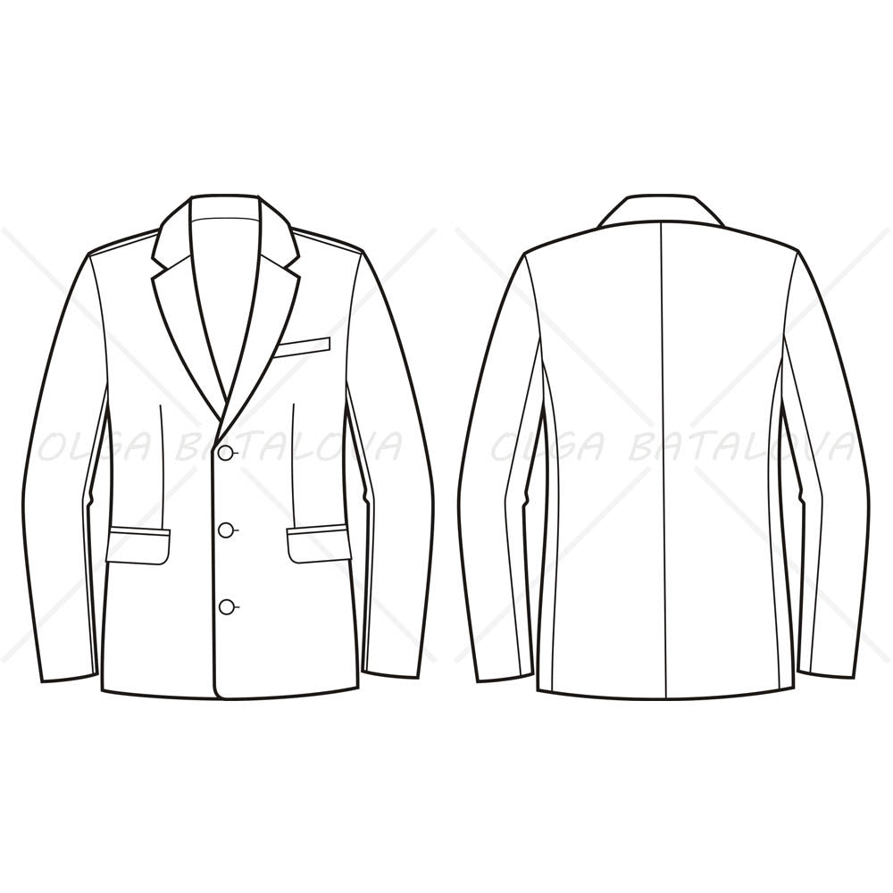 Suit Jacket Drawing