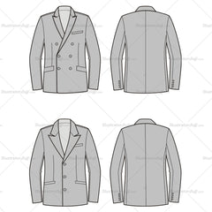 Men's Business Suit Jacket Fashion Flat