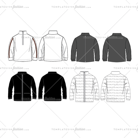 Men's Jacket Fashion Flat Templates