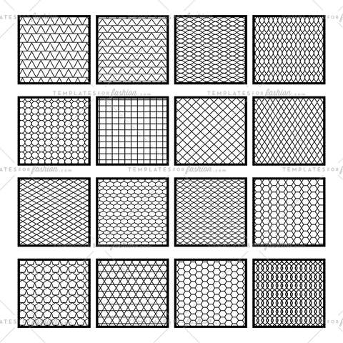 net grid seamless pattern vector swatches