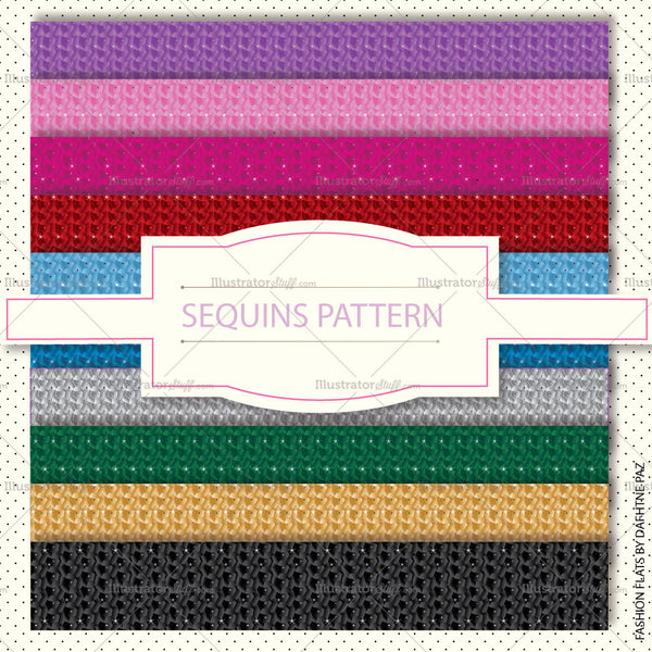 10 Color Sequin Pattern Swatch