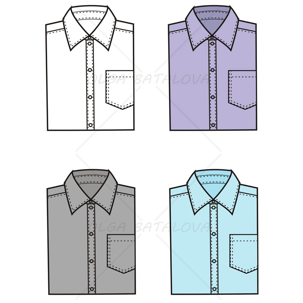 Mens Adobe Illustrator Flat Fashion Sketch Templates