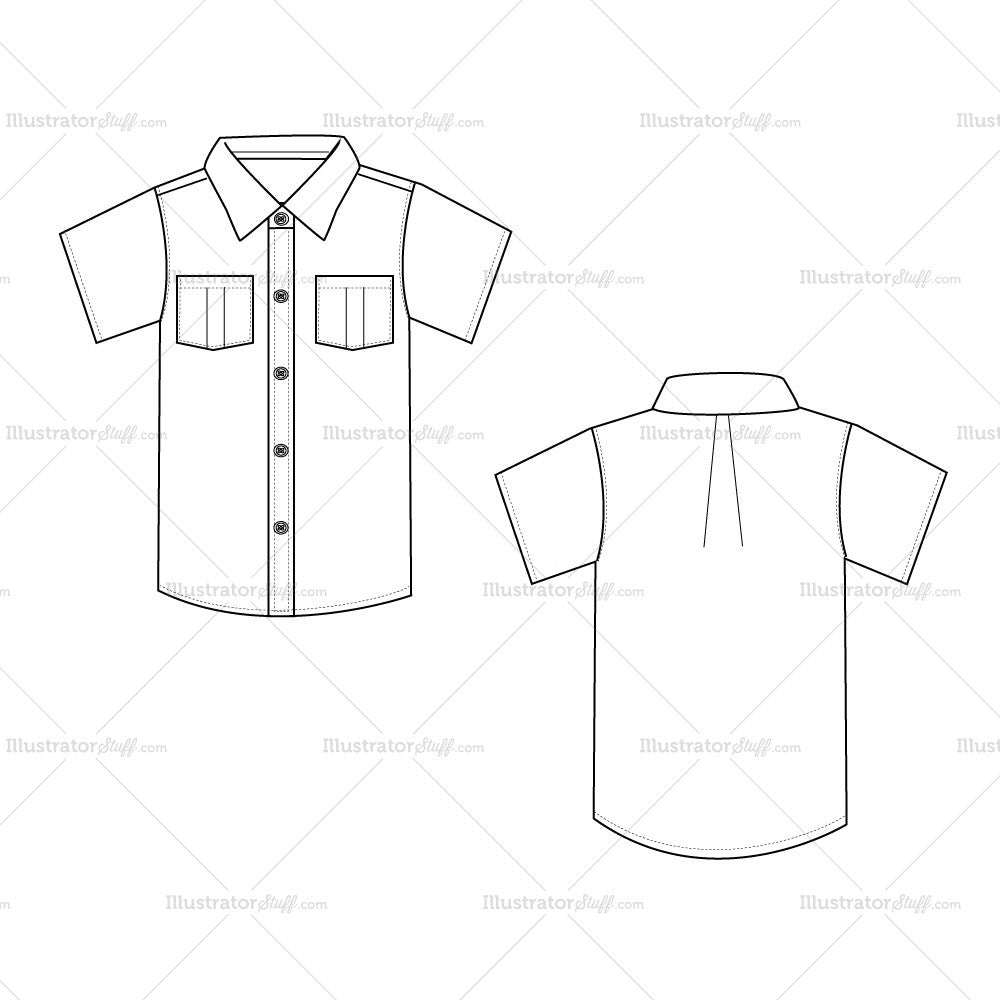 men u0026 39 s button down shirt fashion flat template